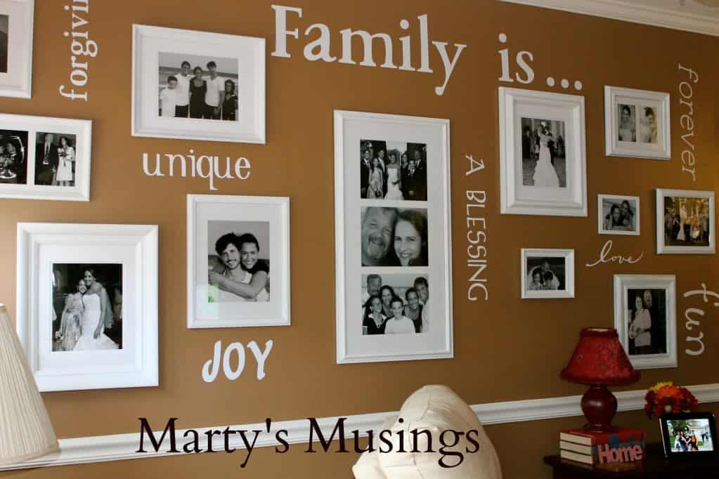 How to Make a Family Gallery Wall from Marty's Musings