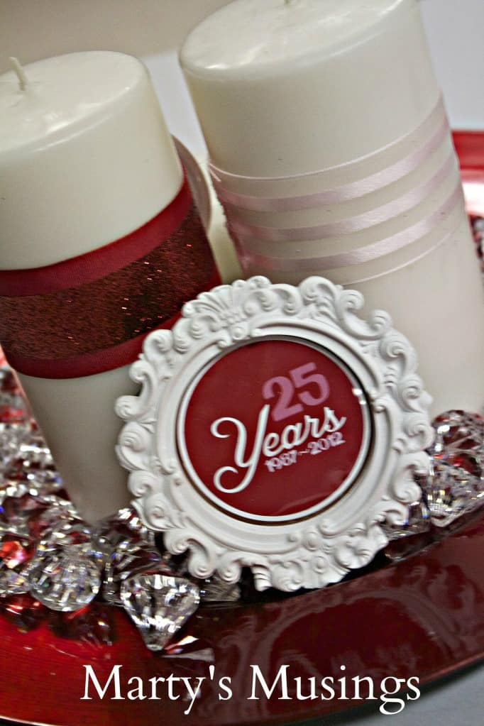 25 Year Wedding Anniversary Party Decor Ideas