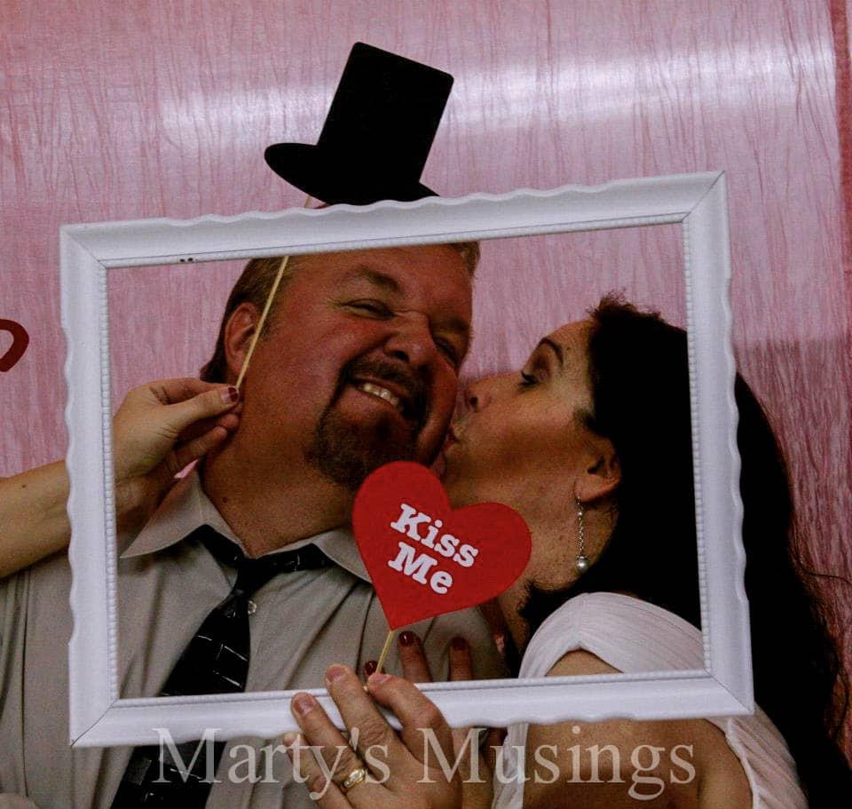 christmas photo booth prop ideas - 25 Year Wedding Anniversary