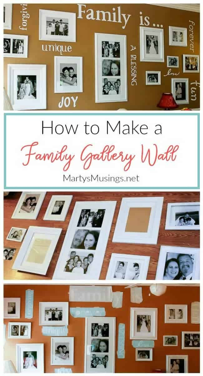 How To Make A Gallery Wall With Family Photos