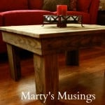 Table made of Fence Posts