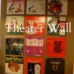 Theater Wall Made of Vinyl Albums