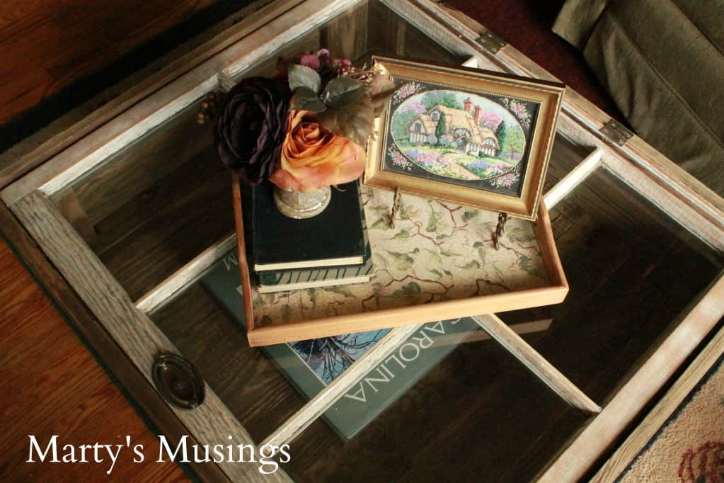 Wooden Serving Tray for Window Table