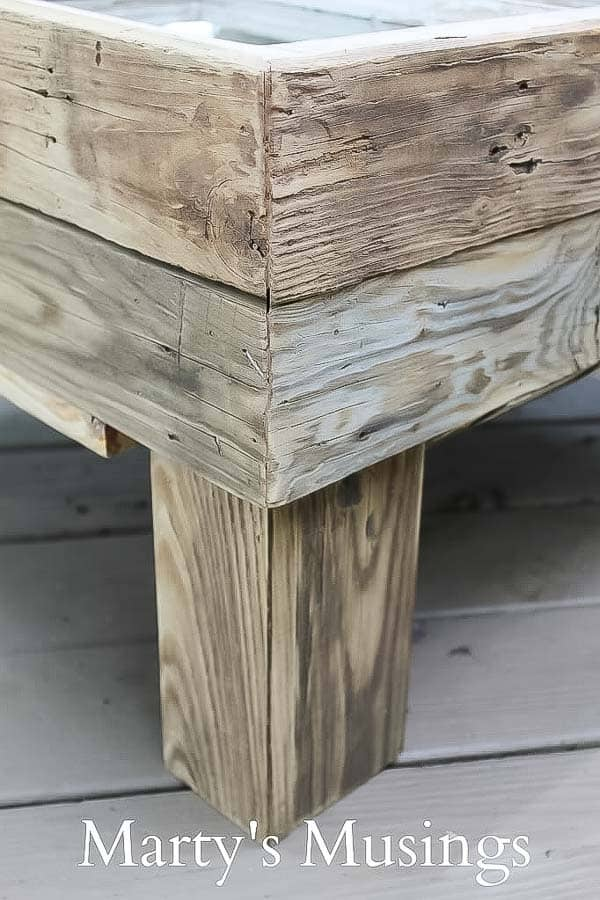 This DIY tutorial explains how to make a window table with storage for practically nothing. Great furniture idea for the rustic shabby chic look.