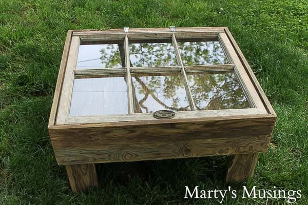 This DIY tutorial explains how to make a window table with storage for  practically nothing. - How To Make A Window Table