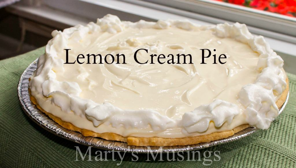 Lemon Cream Pie - Marty's Musings