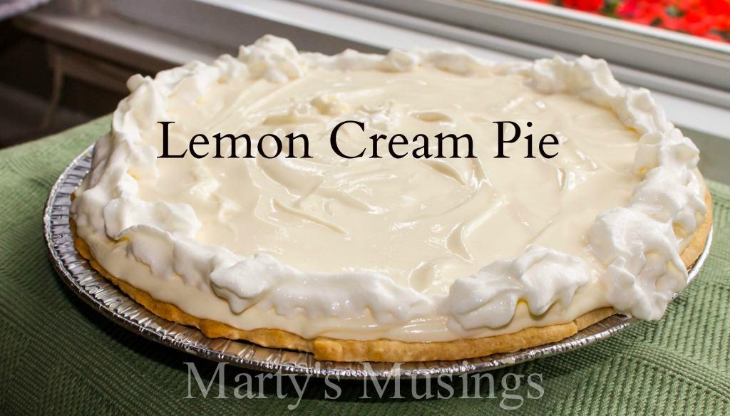 Lemon Cream Pie - Marty's Musings