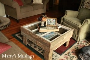 Rustic DIY Window Table from Marty's Musings