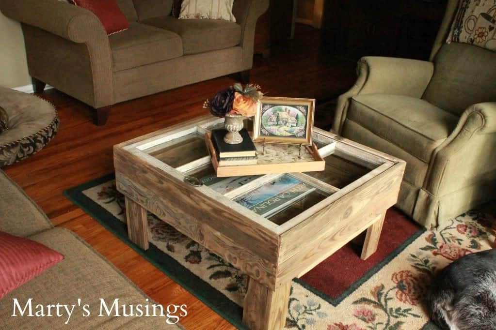 Rustic Window Table from Marty's Musings