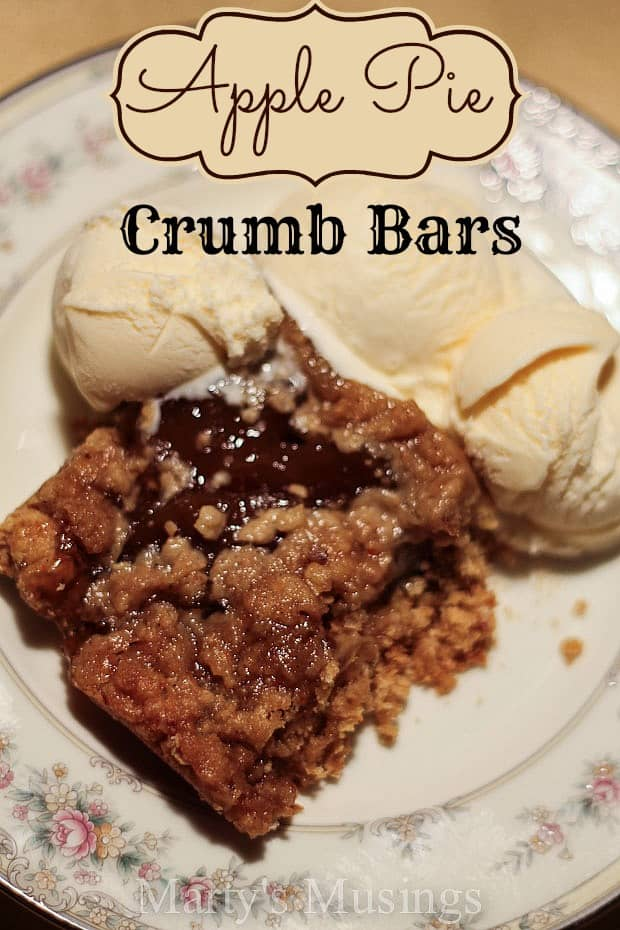 Apple Pie Crumb Bars from Marty's Musings