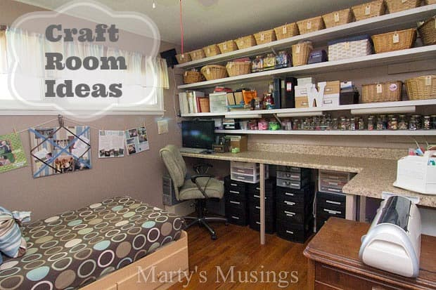 Craft Room Ideas from Martyu0027s Musings & Scrapbook Room Ideas