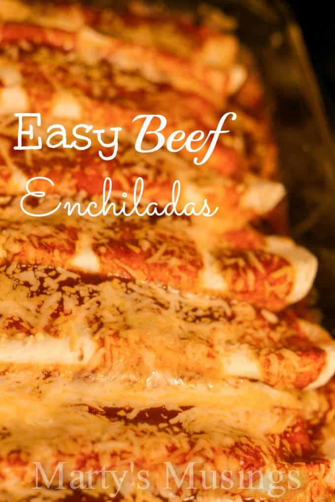 Easy Beef Enchiladas from Marty's Musings