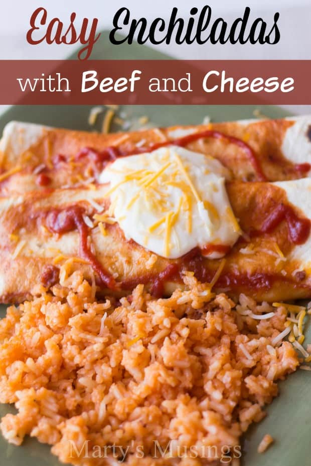 These easy Beef Enchiladas can be made ahead of time or frozen and are perfect for the busy family. No more reasons to eat out!