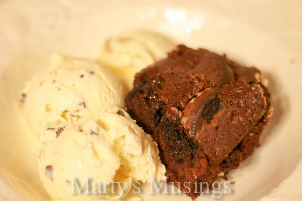 Oreo Volcano Brownie from Marty's Musings