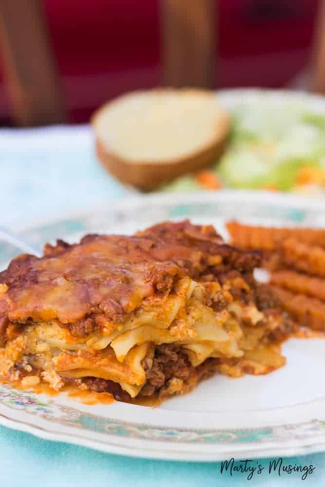 This Crock Pot Lasagna can be made ahead of time and refrigerated until ready to cook. Great meal for a Sunday lunch or family dinner.