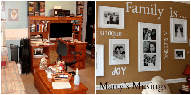 Den Makeover Before And After From Martyu0027s Musings