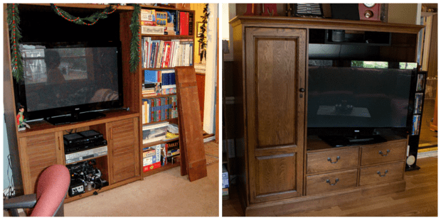 Den Makeover Before and After from Marty's Musings