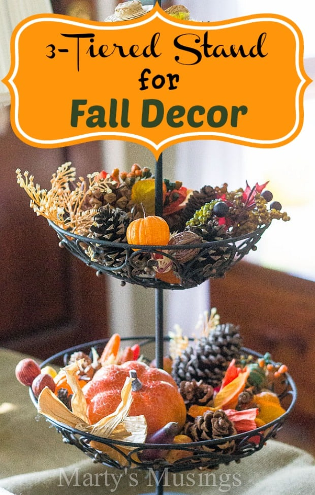 3-Tiered Stand for Fall Decor