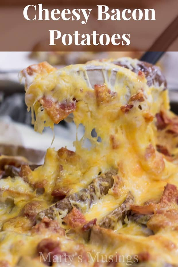 Cheesy Bacon Potatoes from Marty's Musings