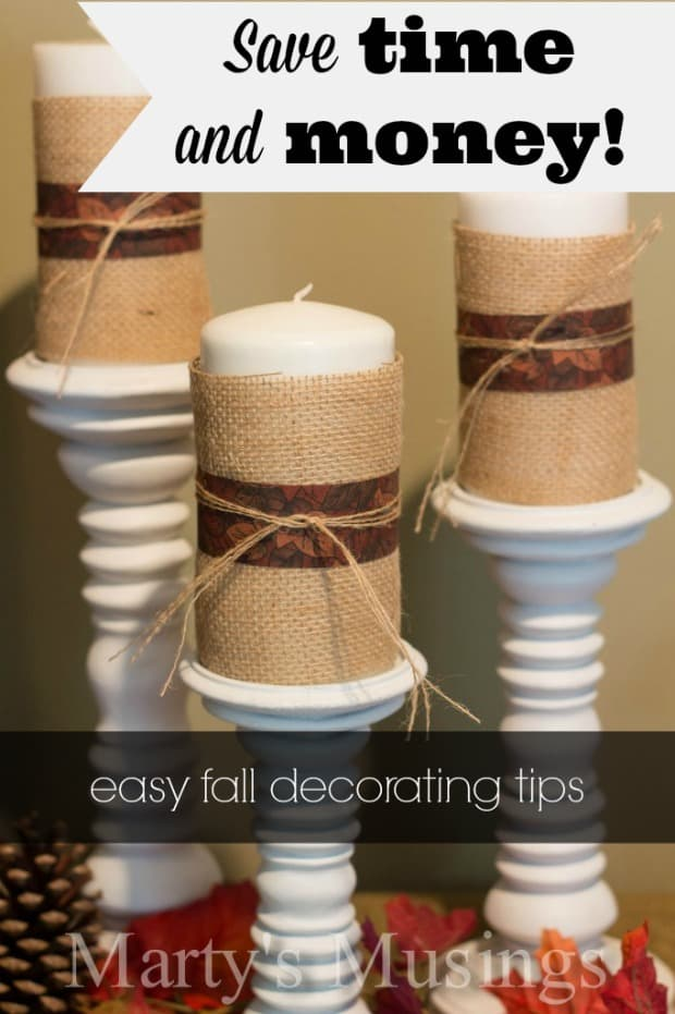 Easy Fall Home Decor - Marty's Musings