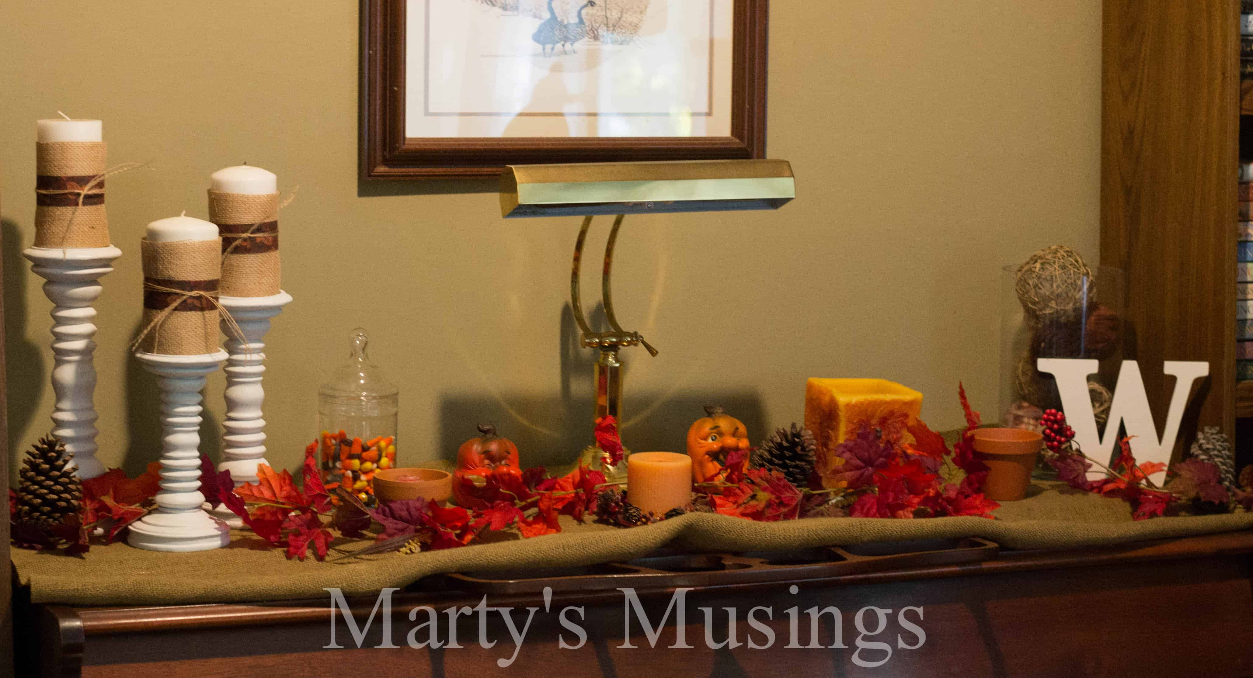 Easy fall home decor for Www decorations home