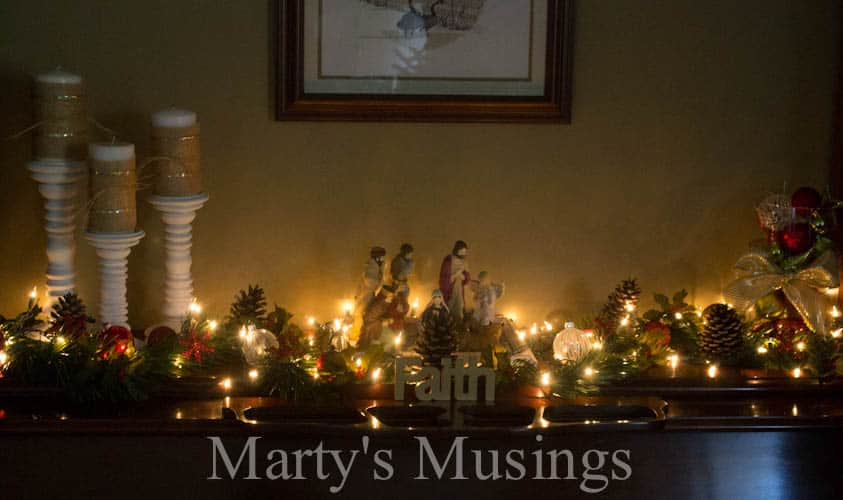 Decorating without a Mantel from Marty's Musings