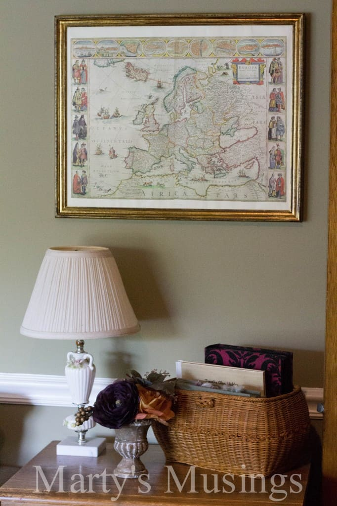 Using an old map with a picture frame