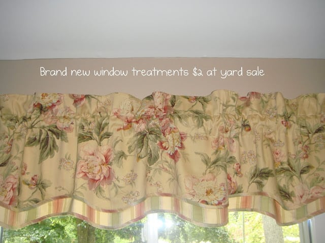 yard sale curtains for craft room