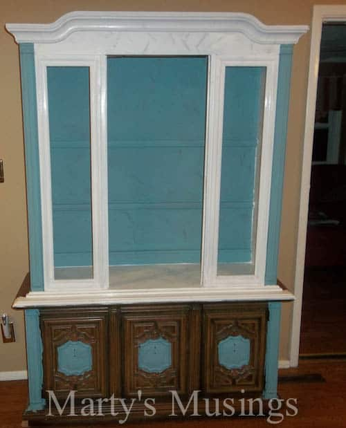Annie sloan chalk paint tutorial 70s china hutch makeover distressing solutioingenieria Choice Image