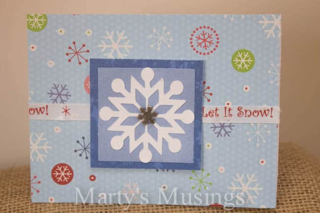 Christmas Cards with Cricut - Marty's Musings