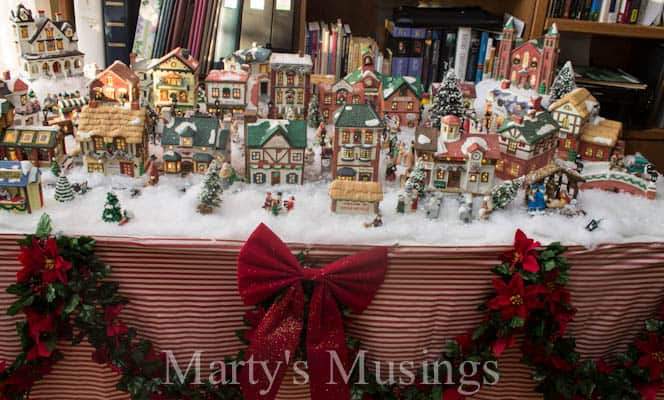 christmas village display ideas
