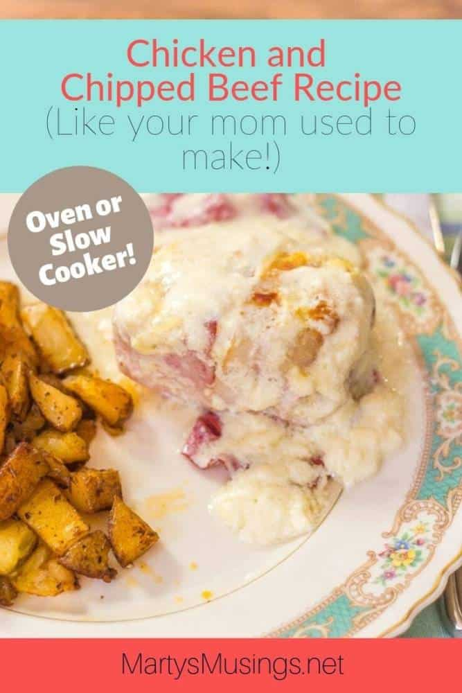 chicken and chipped beef recipe (oven or slow cooker)