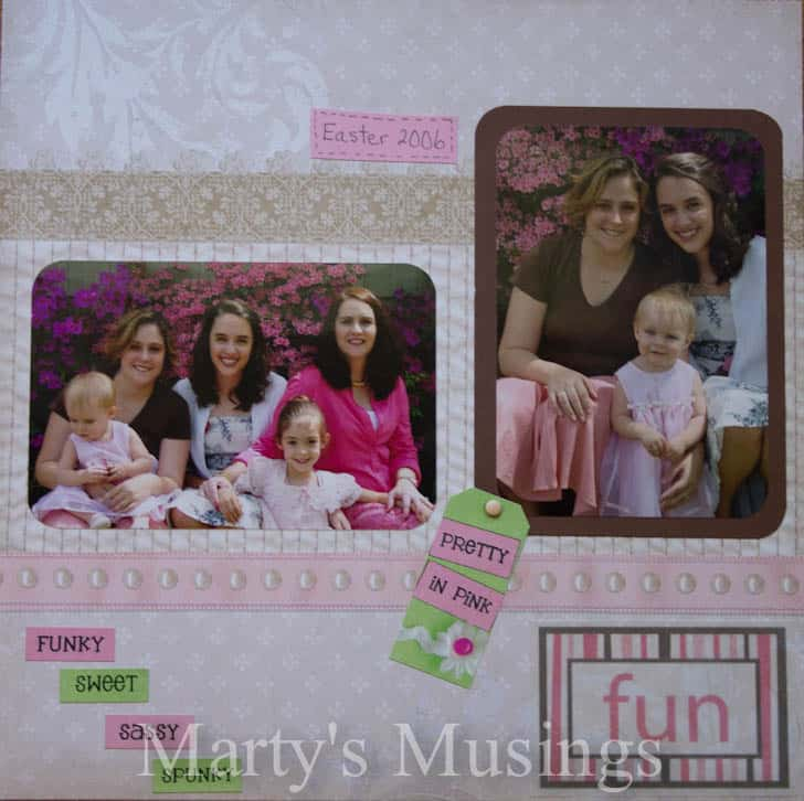 Girls Scrapbooking Layout