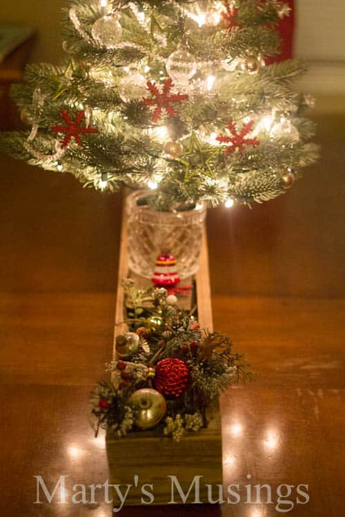 Rustic Christmas Centerpiece Martys Musings