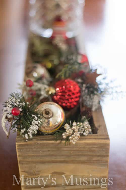 Rustic Christmas Centerpiece | Marty's Musings