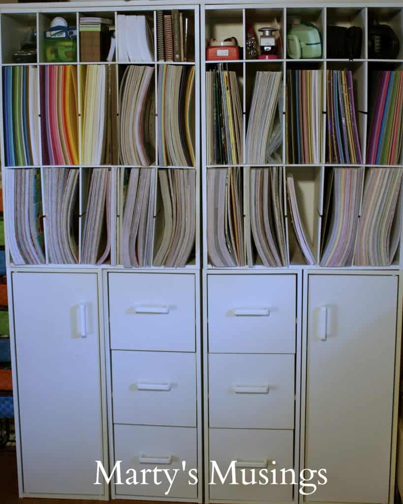 Scrapbook Room Paper Storage
