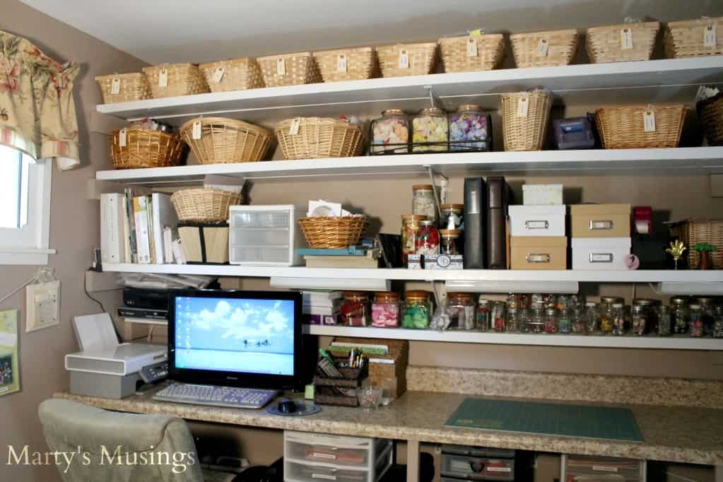 Scrapbook Craft Room Organization