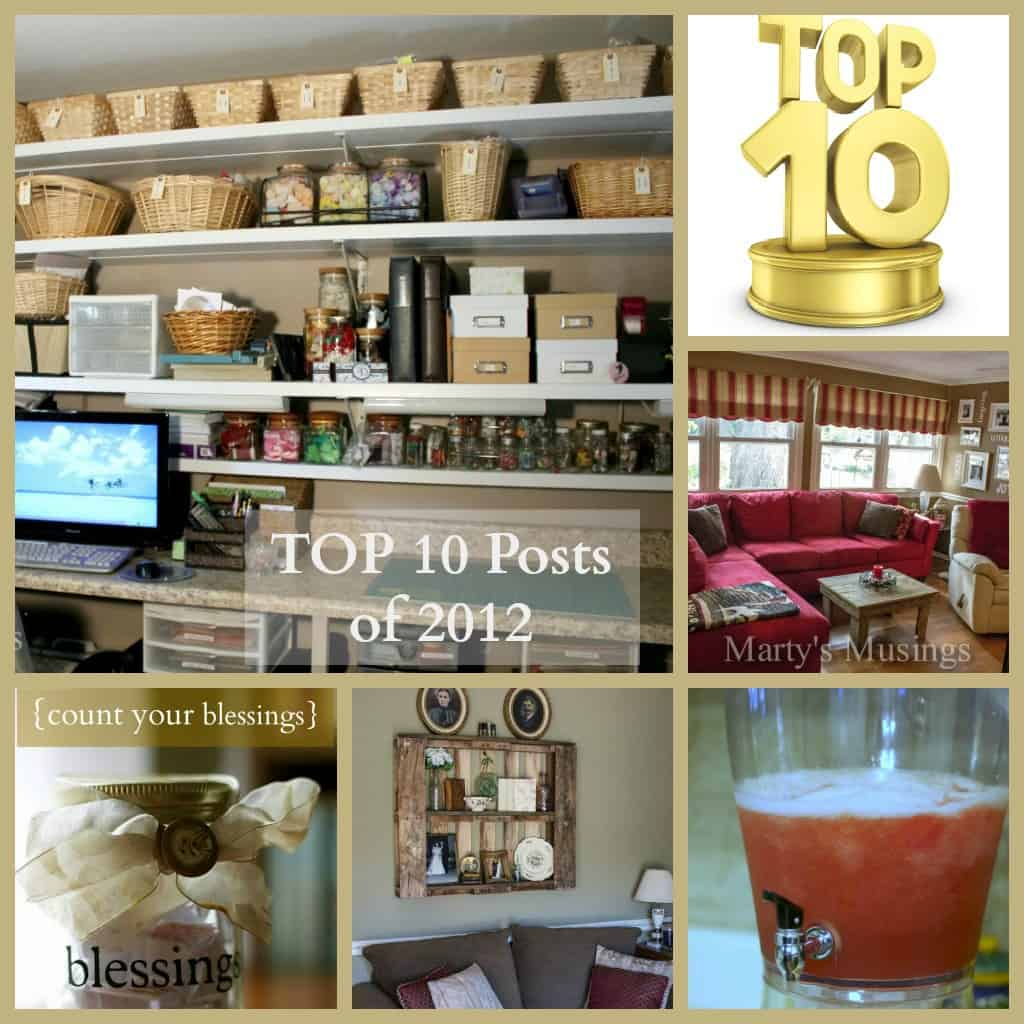 Top 10 DIY Projects of 2012 from Marty's Musings