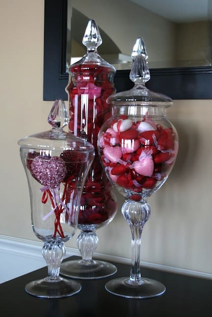 Valentine's Day Apothecary Jars