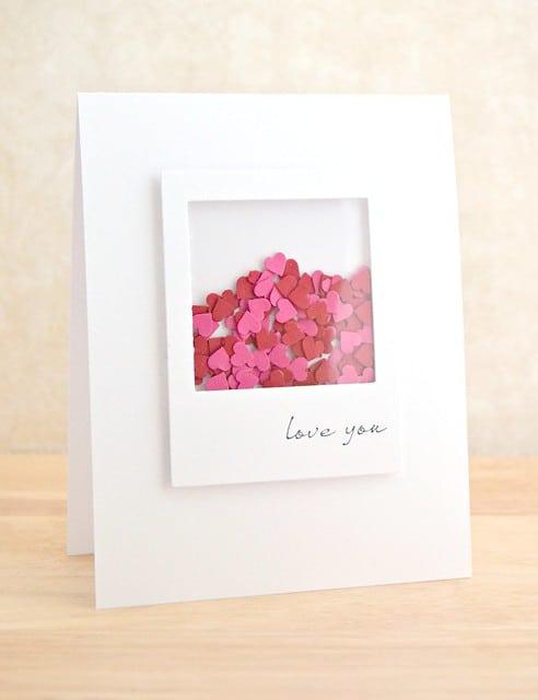 Valentine's Day shaker card