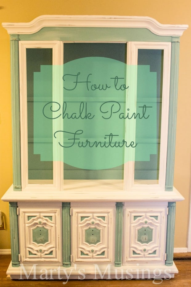 Tutorial on painting furniture with chalk paint from www.martysmusings.net