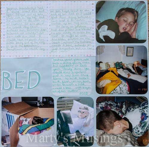 Sleepy Boy layout by Marty's Musings
