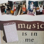 Music is in Me: Scrapbooking Layout