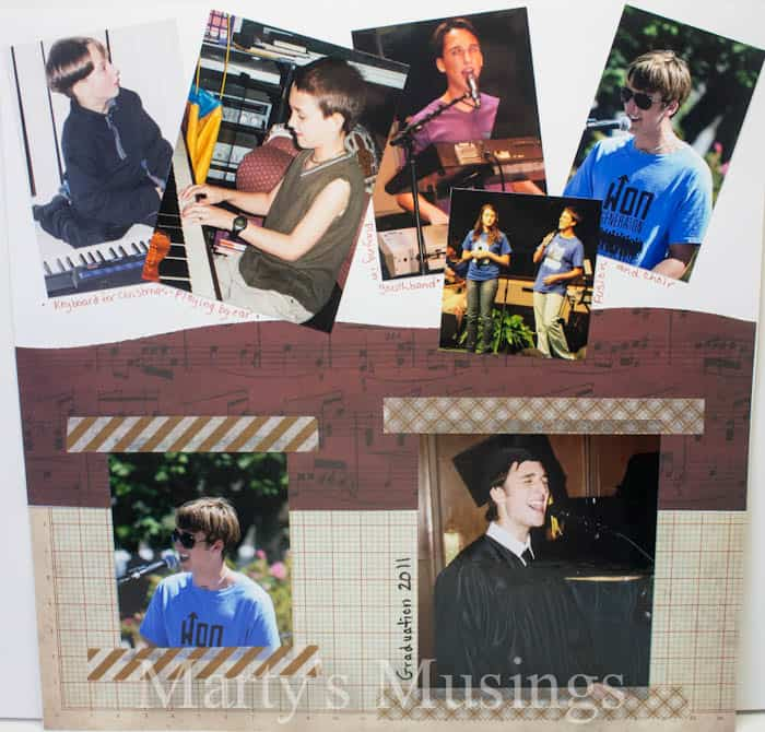 Music in Me Layout from Marty's Musings