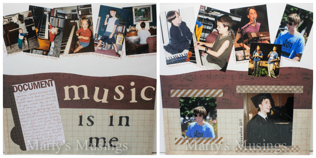 Music is in Me Layout by Marty's Musings