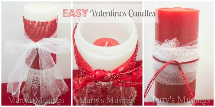 Valentines Candles from Marty's Musings