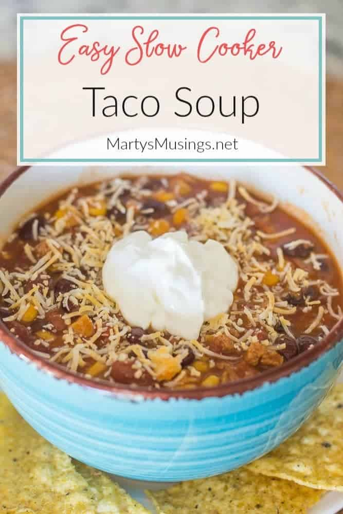 easy slow cooker Taco Soup recipe
