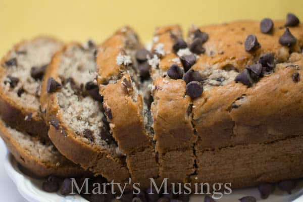 Banana Chocolate Chip Bread from Marty's Musings