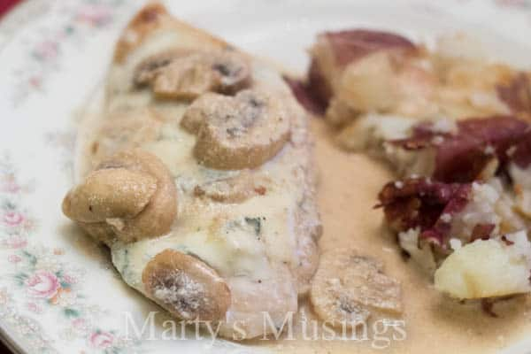 Chicken Marsala with Gorgonzola Cheese from Marty's Musings