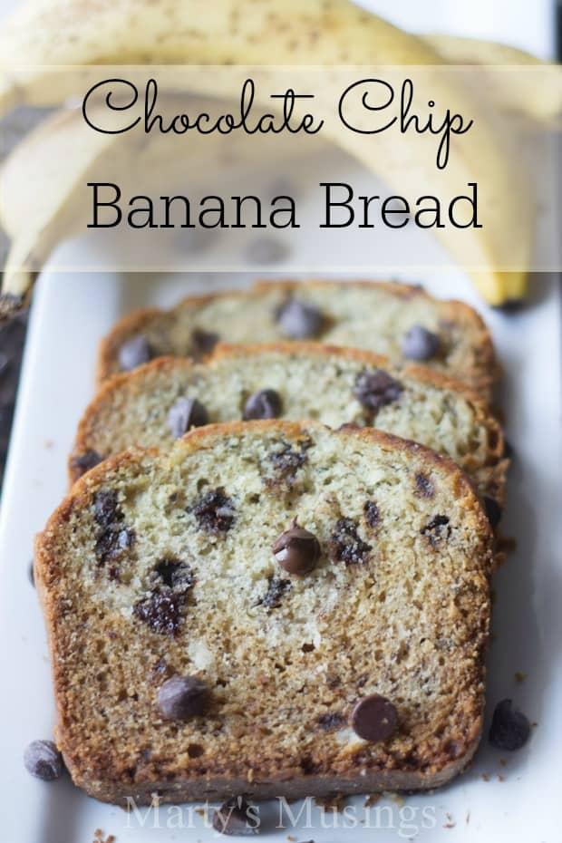 Chocolate Chip Banana Bread - Marty's Musings